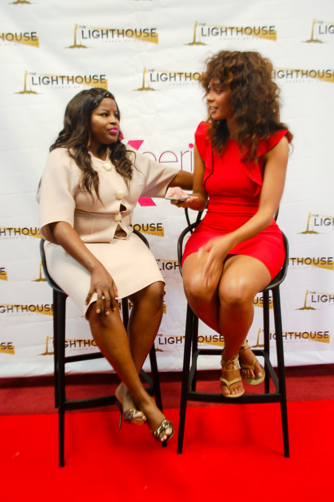 """LAMIK Beauty founder and """"Real Talk"""" panelist, Kim Roxie and Chelsea Lenora White"""